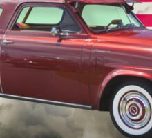 Studebaker Champian Antique Car And American Flag Sticker