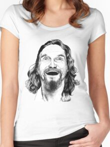 """Jeff """"The Dude"""" Lebowski Women's Fitted Scoop T-Shirt"""