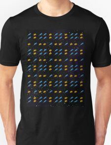 Space Invader Rocket Ship Pattern T-Shirt