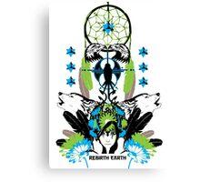 Rebirth Earth - Vector Design Canvas Print