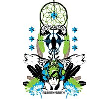 Rebirth Earth - Vector Design Photographic Print