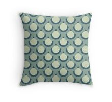 Neutral Blue -Large Circle Throw Pillow
