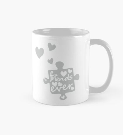 White Best Friends Forever Connection Puzzle (right) Mug