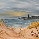 beach oil painting coastal decor by derekmccrea
