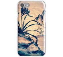 Sumi-e Orchid at Sunset iPhone Case/Skin