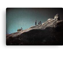 Rock Gathering Canvas Print