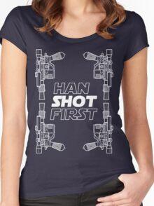 Han Shot First Shirt Women's Fitted Scoop T-Shirt