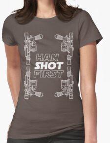 Han Shot First Shirt Womens Fitted T-Shirt