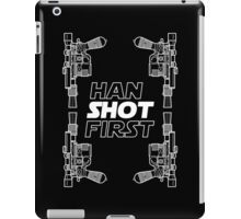 Han Shot First Shirt iPad Case/Skin