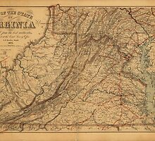 Map of the State of Virginia (1865) by allhistory