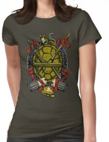 Turtle Family Crest Womens Fitted T-Shirt