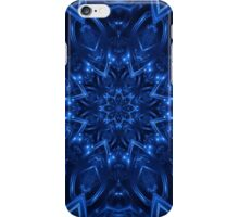 Electric Blue Fractal Kaleidoscope  iPhone Case/Skin