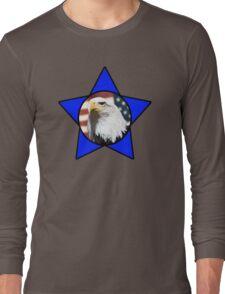 Bald Eagle & Blue Star Long Sleeve T-Shirt