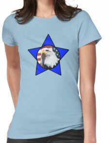 Bald Eagle & Blue Star Womens Fitted T-Shirt