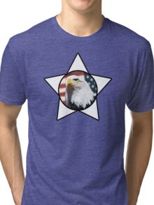 Bald Eagle & White Star T-Shirt Tri-blend T-Shirt
