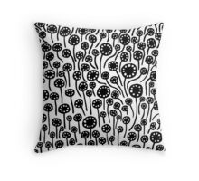 Abstract 090512 - Black Throw Pillow