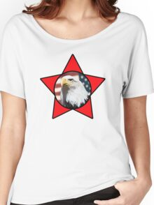 Bald Eagle & Red Star T-Shirt Women's Relaxed Fit T-Shirt