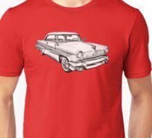 1955 Lincoln Capri Luxury Car Illustration Unisex T-Shirt