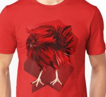Big, Red Rooster with bg Unisex T-Shirt