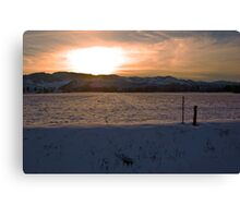 A Front Range Spring Sunset Canvas Print