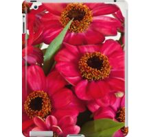 Hot Pink Zinnias  iPad Case/Skin
