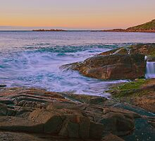 Fingal Rocks Sunrise by Centralian Images