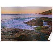 Fingal Rocks Sunrise Poster