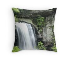 Looking Glass Falls, Pisgah National Forest Throw Pillow