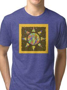 Sunburst Stained Glass Tri-blend T-Shirt