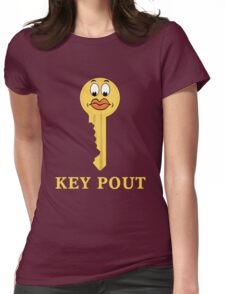 Key Pout Womens Fitted T-Shirt