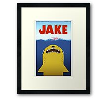 Adventure Time / Jaws Crossover Framed Print