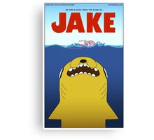 Adventure Time / Jaws Crossover Canvas Print