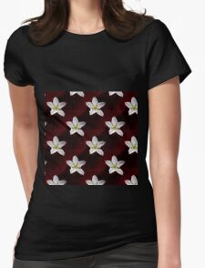 Big White Gourd Flower Womens Fitted T-Shirt