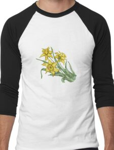 "Daffodils ""t"" Men's Baseball ¾ T-Shirt"