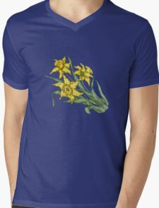 "Daffodils ""t"" Mens V-Neck T-Shirt"