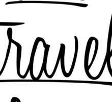 """Live, Travel, Love"" Typography in Black Sticker"