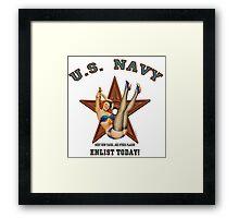 Vintage Styled U.S. NAVY....Enlist Today! Framed Print