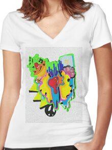 Noise Of Art  Women's Fitted V-Neck T-Shirt