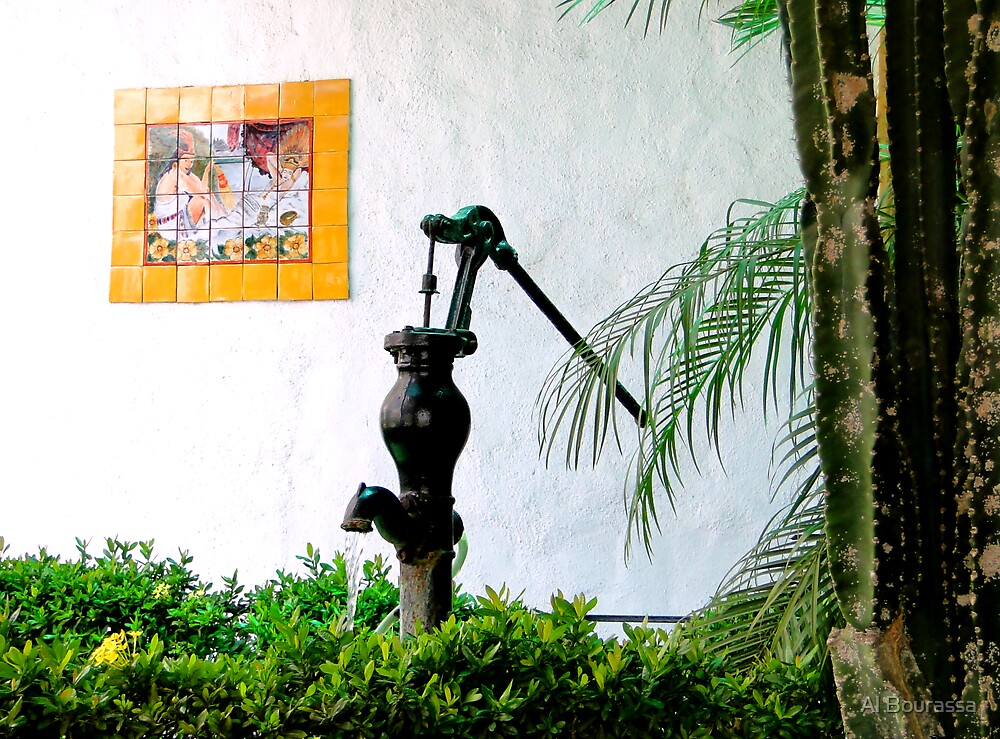 La Hacienda Antique Pump by Al Bourassa