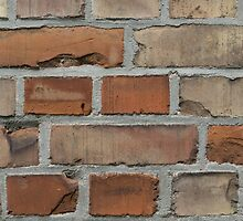 vintage red brick wall texture by ohaniki