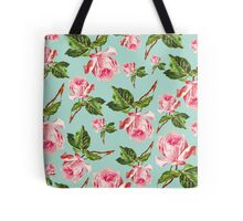 Pink and blue Floral Pattern Tote Bag