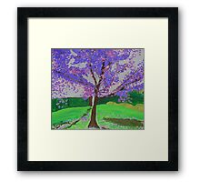 The Jacaranda Tree Framed Print