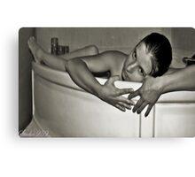 In the Bath Canvas Print