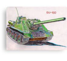 SU-100 Soviet Tank Destroyer Canvas Print