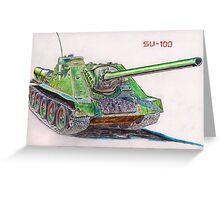 SU-100 Soviet Tank Destroyer Greeting Card