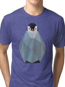 Cute Polygon Baby Penguin Tri-blend T-Shirt