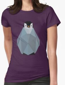 Cute Polygon Baby Penguin Womens Fitted T-Shirt