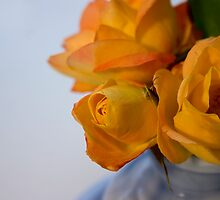 Pretty Yellow Roses by Michelle Anderson