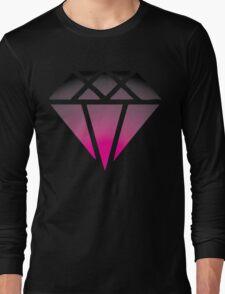 Pink Black Diamond Long Sleeve T-Shirt
