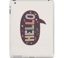 Hello Speech Bubble Typography iPad Case/Skin